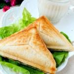#新浪美食开学季#快手营养三明治