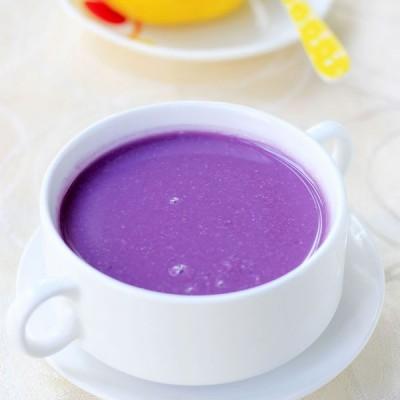 开学季:早餐不可缺的紫薯糯米糊