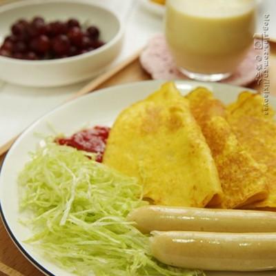 #新浪美食开学季#变废为宝早餐饼【玉米渣煎饼】