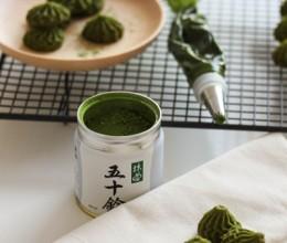 零失败的健康酥松曲奇——抹茶小花