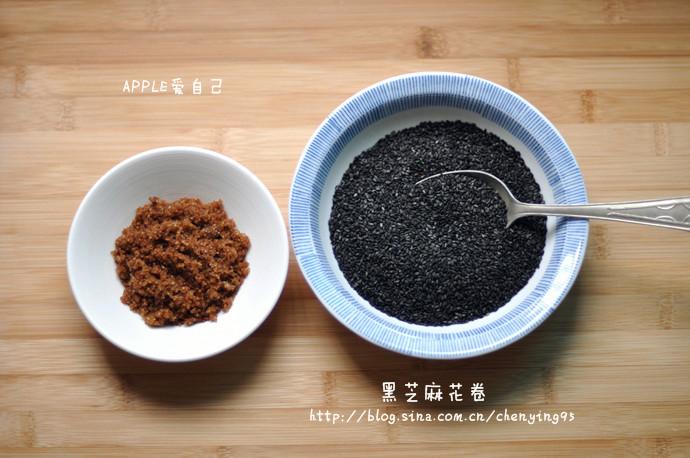 黑芝麻花卷