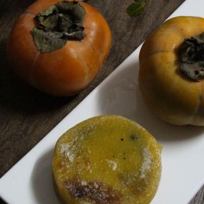 绵软香甜的柿子糯米饼---当令水果入馔味道好