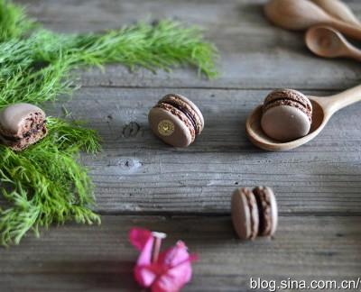 意霜法:巧克力马卡龙