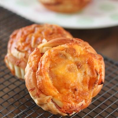 自家做出面包房口味的专业面包——洋葱火腿面包