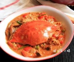 一人食的饕餮大餐——红咖喱椰浆梭子蟹