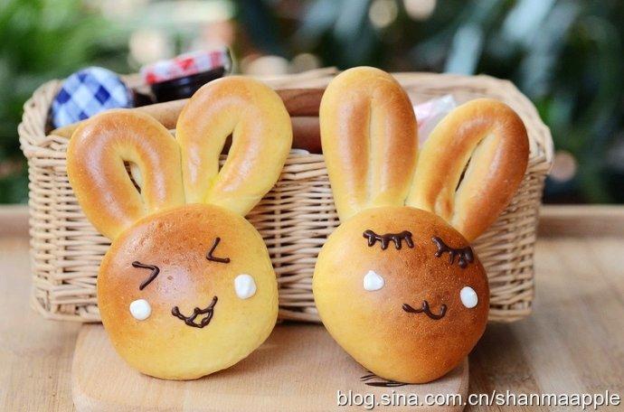 萌萌哒的兔子面包的做法【图解】_萌萌哒的兔子面包的