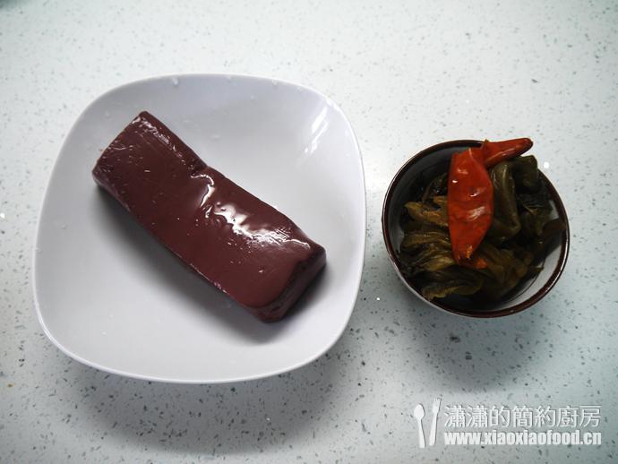 雾霾天气的健康除尘菜——酸菜烧血旺