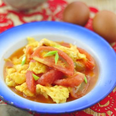 切西红柿完全不流汁的实练窍门——西红柿炒鸡蛋