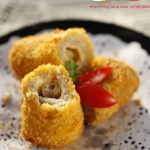 #九州筵席#让人幸福感爆棚的甜点---芋泥芝士面包卷