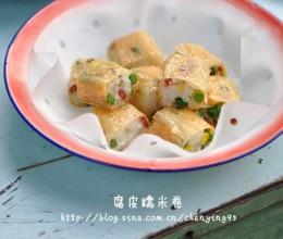 装大厨啦。【大图详解经典宴客菜腐皮糯米卷做法】。