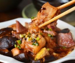 #九州筵席#超级滑嫩好吃又简单易做的----【香菇火腿蒸滑鸡】