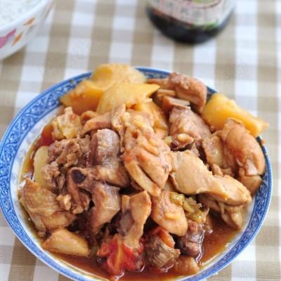 鲜香绵软——土豆蕃茄焖鸡块