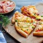 【萨拉米虾仁披萨】附披萨酱做法