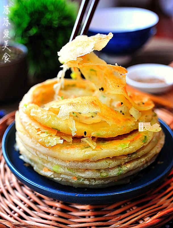 三个秘方做酥软千层的烫面葱花酥饼