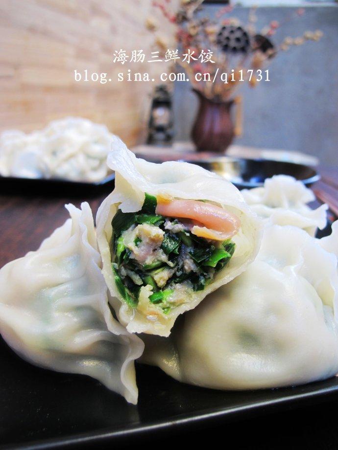 个需要吮吸吃的灌汤水饺 胶东经典海肠三鲜水饺的做法 一个需要吮吸