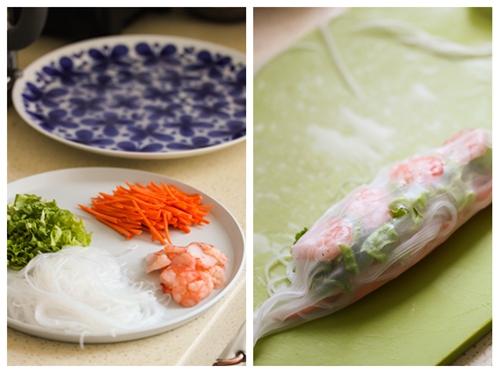 适合夏日清淡甜辣口的异域蔬菜卷——泰国鲜虾蔬菜卷