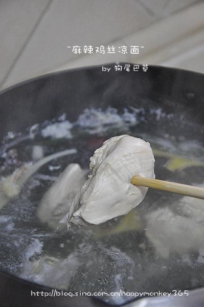 【麻辣鸡丝凉面】