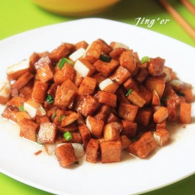 浓油赤酱的下饭菜----蚝油炒双白