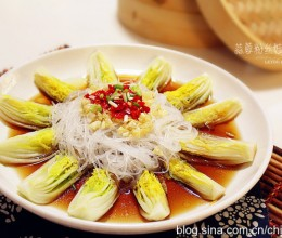 【蒜蓉粉丝娃娃菜】造型美观的宴客菜