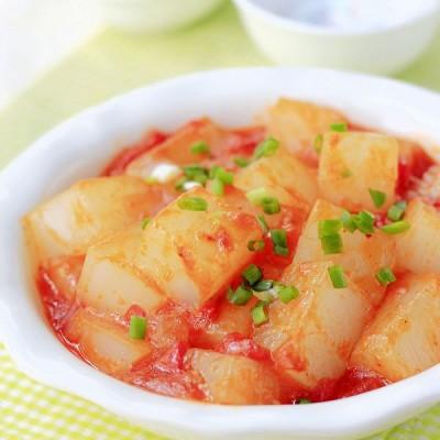 复制农家乐的味道——西红柿炒凉粉