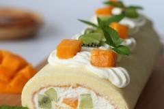 做一款赏心悦目的水果蛋糕卷