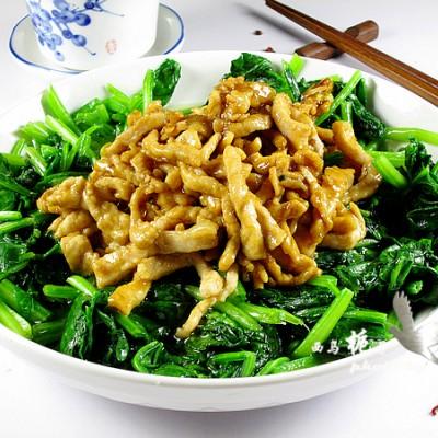 搭配完美的家常菜-----油焖菠菜