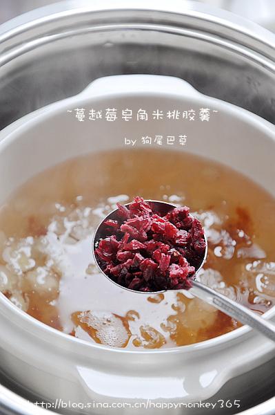 【蔓越莓皂角米桃胶羹】
