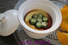 露台种菜之——秋葵蒸蛋