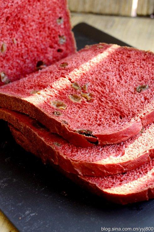 一键式面包:红曲葡萄干面包