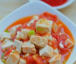 """#美食DIY#豆腐也能小清新,超有爱的""""番茄炖豆腐"""""""