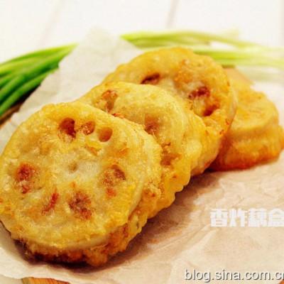 【香炸藕盒】金黄酥脆的时令佳肴
