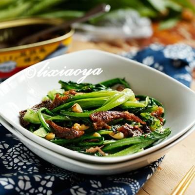 10分钟快手下饭菜【豆豉鲮鱼油麦菜】