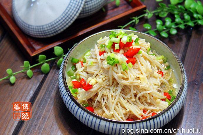 【凉拌金针菇】简单易学的快手小菜