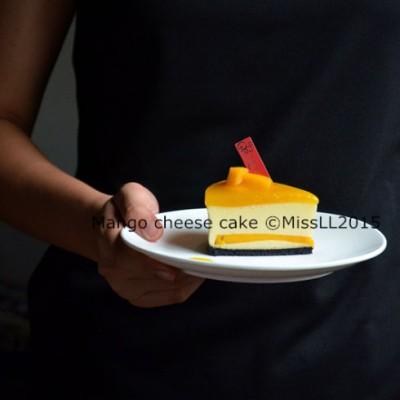 【芒果乳酪蛋糕(蒸烤)】清新怡人的中乳酪蛋糕