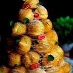 2015圣诞大餐——浪漫的焦糖金丝泡芙圣诞树