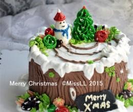 【圣诞主题--树桩蛋糕】嗨皮过圣诞喽