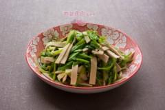 #八珍盛宴#水芹菜炒厚百叶