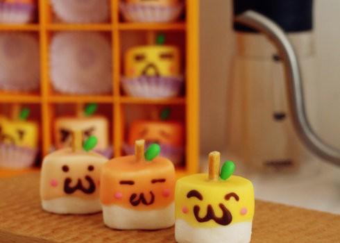 苹果棉花棒棒糖(你是我的小呀小苹果~)