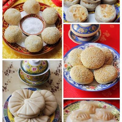 荷叶饼VS门钉肉饼VS麻团VS黄桥烧饼VS虾饺--中国风面点