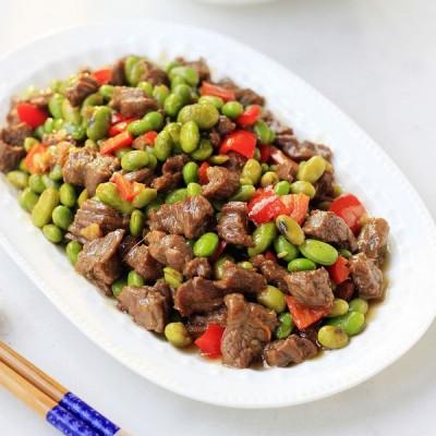 嗜牛肉一族的家常菜毛豆炒牛肉