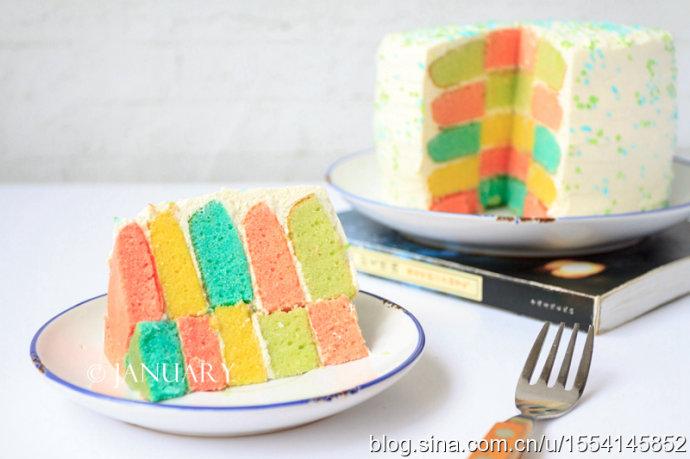【彩虹蛋糕】心情如彩虹般绚丽美好