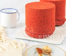【红丝绒戚风蛋糕】那一抹红的美艳绚丽