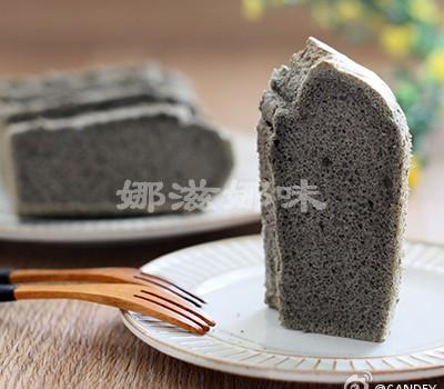 【黑芝麻酱戚风蛋糕】