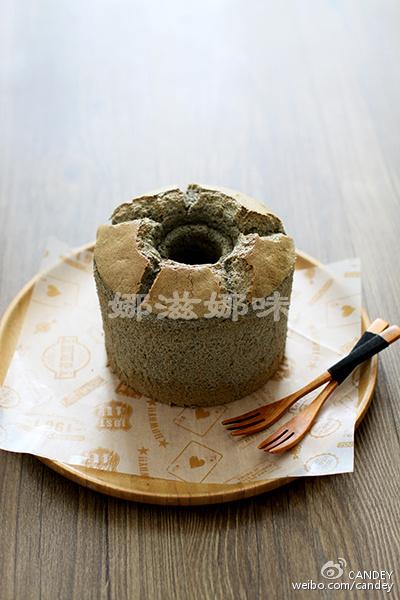黑芝麻酱戚风蛋糕