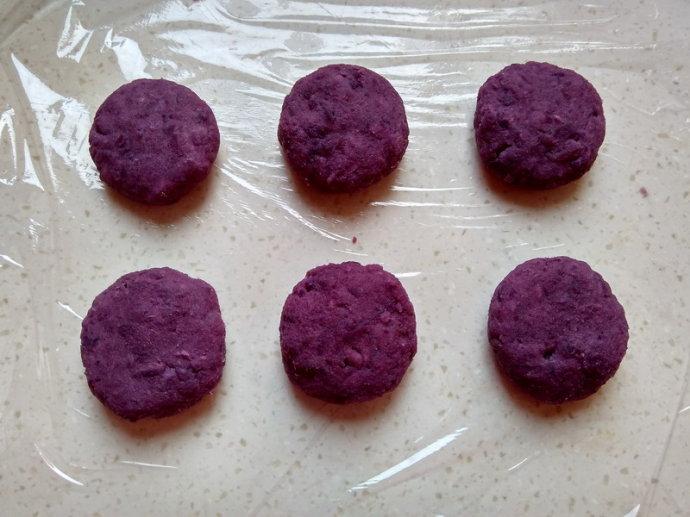 香煎紫薯饼