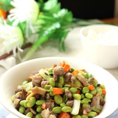 美味快手下饭菜毛豆焖肉