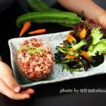 蒜香四角豆配红米饭