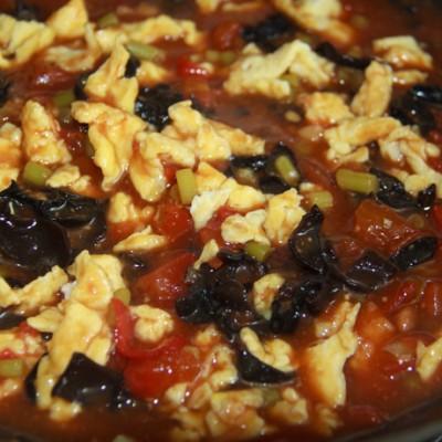 浓浓的西红柿鸡蛋卤子(西红柿鸡蛋面)