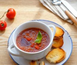 零难度制作可以喝的沙拉【西班牙冷菜汤】,夏日消暑必备