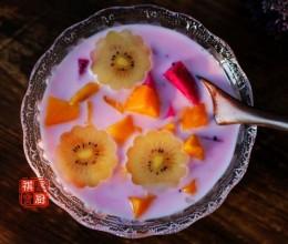【祺宝家厨】粉红色盛夏西米露水果捞